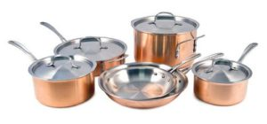 Calphalon Tri-Ply 10 Piece Copper Cookware