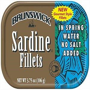 brunswick sardine fillets in spring water