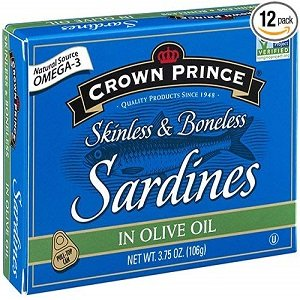 crown prince skinless & boneless sardines