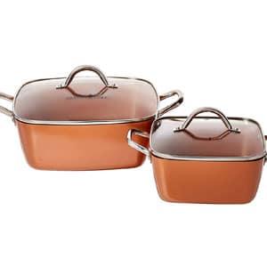 copper chef 811 deep dish pan 4Pc