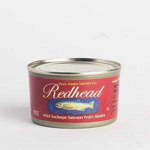 the redhead wild sockeye salmon