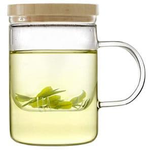 emoi 15oz teapot, glass brewing tea cup