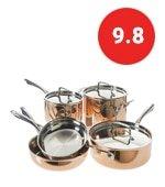 cuisinart tri ply copper cookware set