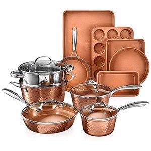 gotham steel hammered copper collection